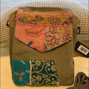 """NWT Crossbody bag Made from military tents 9x10x2"""""""